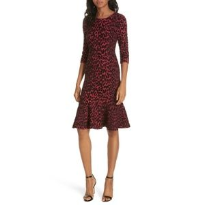 Milly Flocked Cheetah Mermaid Dress